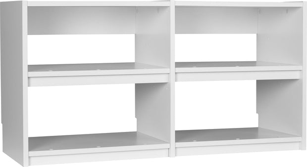 Small Closet Cubby Unit - White - N/A