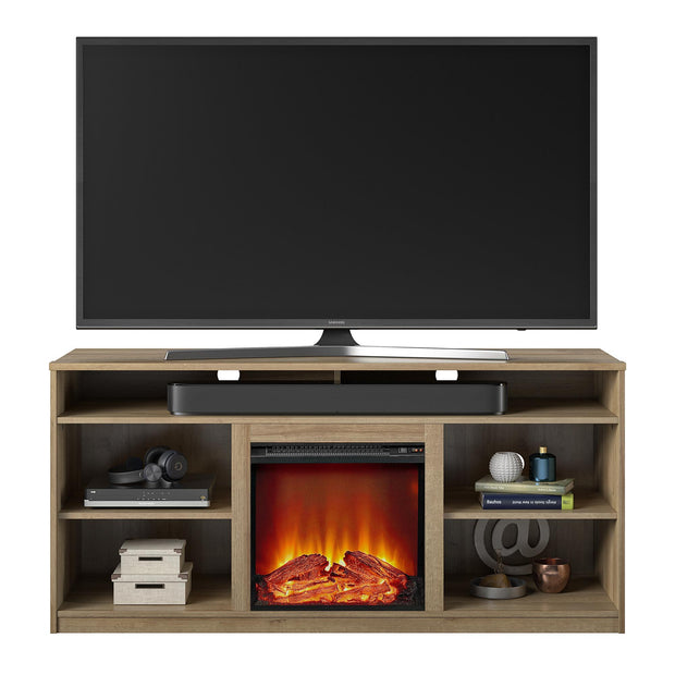 "Vesta Fireplace TV Stand for TVs up to 65"", Natural - Natural - N/A"