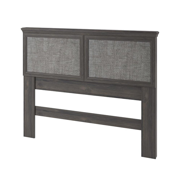 Stone River Full/Queen Headboard with Fabric Inserts - Weathered Oak - N/A