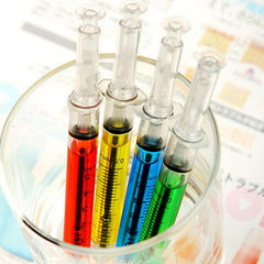 12 Pcs Syringe Injection Shape Ballpen
