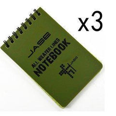 Set of 3 Green Waterproof Notepad