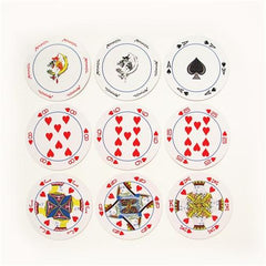 Round shape playing cards