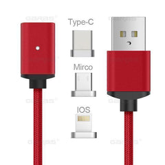 3in1 Magnetic Type-C Charging Cable for Android and iPhone