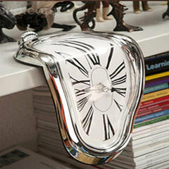 Surrealist Salvador Dali Style Wall Clock