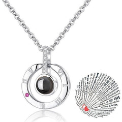 """I LOVE YOU"" in 100 Languages Necklace"