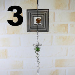 Creative Wind Chimes Spinner Spiral Rotating Crystal Hanging Ball