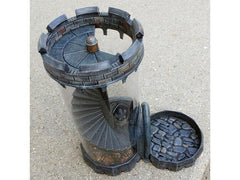 Dice Tower with Spiral Staircase
