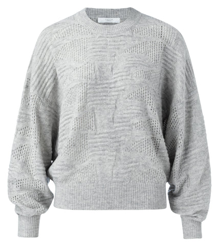 YAYA Merino wool sweater, grey