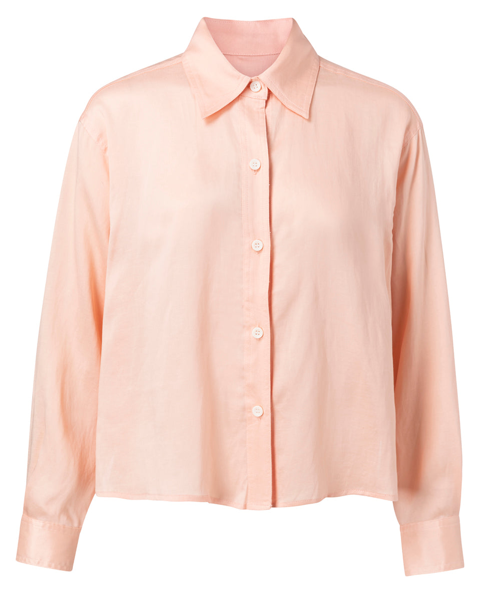 YAYA Cropped Boxy blouse, peach