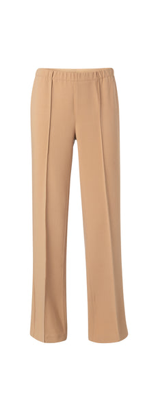 YAYA Relaxed Trousers with Pintucks, sand