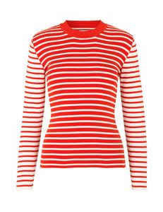 MADS NORGAARD Organic cotton Rib Longsleeve, red