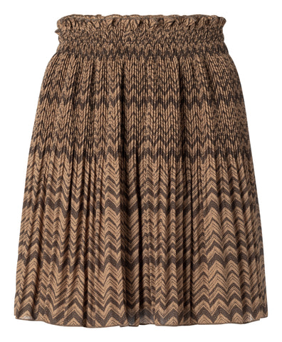 YAYA Pleated Mini Skirt, sand dessin