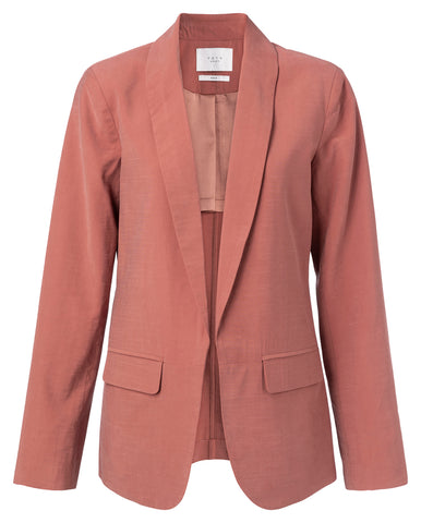 YAYA Blazer with belted deatil on back, terracotta