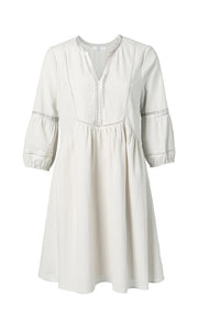 YAYA Cotton A-line dress, white