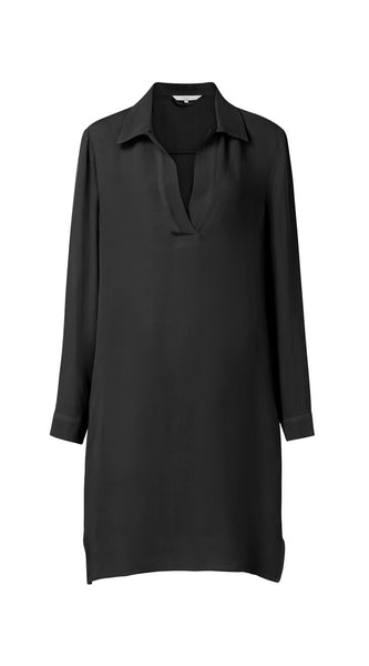 YAYA Midi dress with side pockets, black