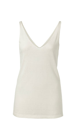 YAYA knitted Singlet, white