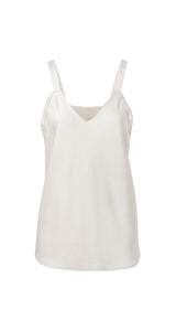 YAYA Satin Strap Singlet, off white