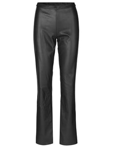 MADS NORGAARD Skai Fake leather Pants, black