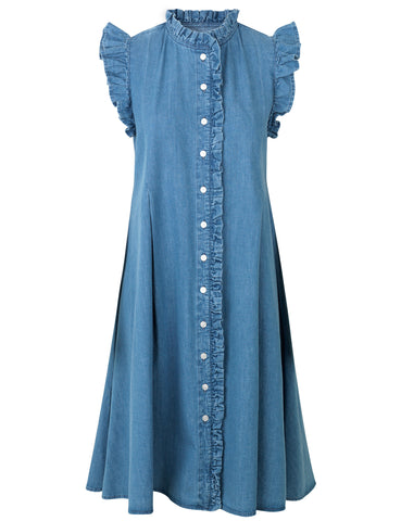 MADS NORGAARD Debra Indigo Denim Dress, blue