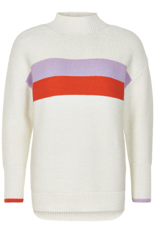 NÜMPH Nuabriana Sweater, white