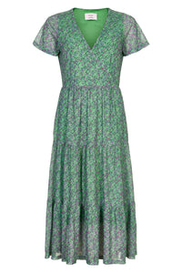 NÜMPH Nuaintza Dress, green flower