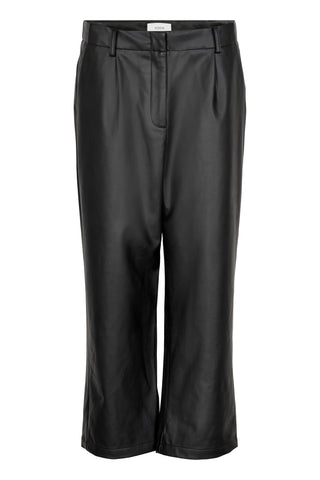NÜMPH Vegan Leather Pants, black