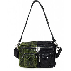 NUNOO Ellie snake mix Bag, green - black