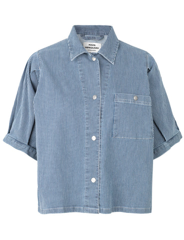 MADS NORGAARD Sassie Denim Shirt, blue
