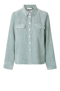 Just Female Buffy Blouse, silver Blue