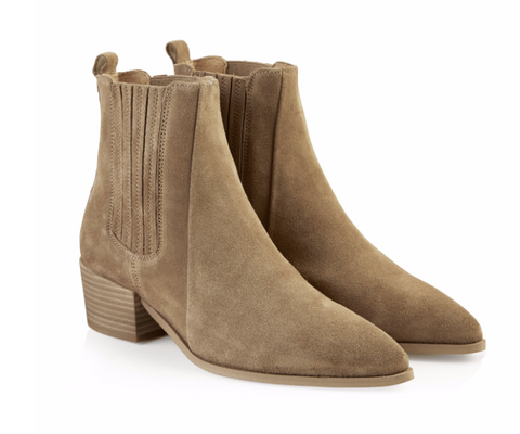 PAVEMENT Sage Suede Stiefelette, taupe