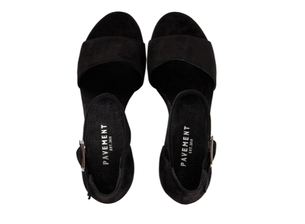 PAVEMENT Silvia Suede Sandale, black