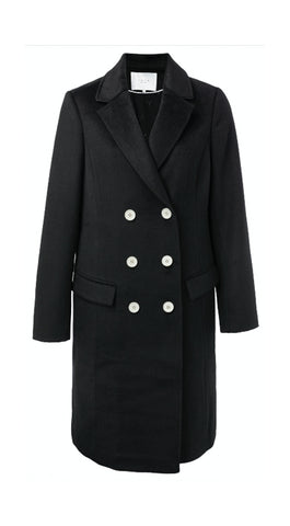 YAYA Wool trench coat, black