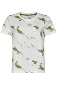 NÜMPH Nuashlyn T-shirt, white - olive