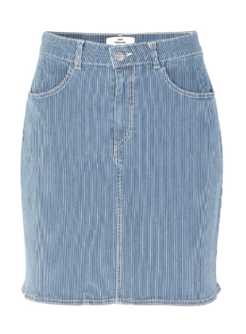 MADS NORGAARD Strechy Denim Skirt, blue