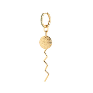 MARIA BLACK Como Earring, gold - mint
