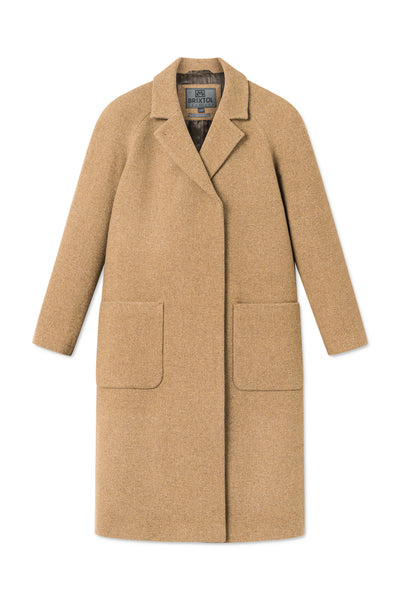 BRIXTOL Deb wool Coat, dark camel