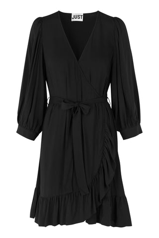 JUST FEMALE Ellery wrap Dress, black