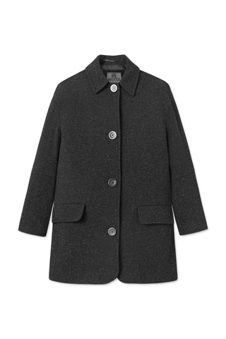 BRIXTOL Edie Wool Coat, dark grey