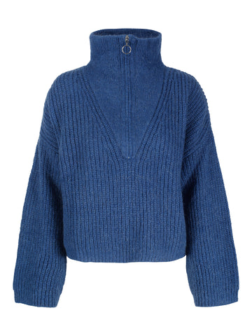 UNTOLD STORIES Florie Zip Knit, blue