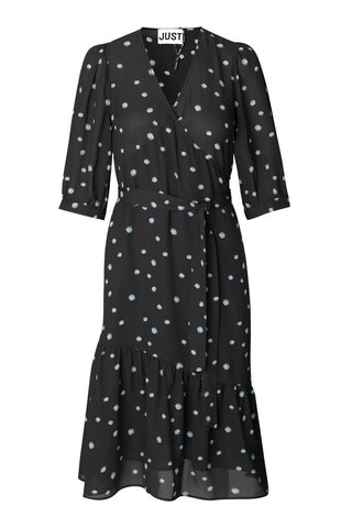 JUST FEMALE Jessie Daisy Dress, black