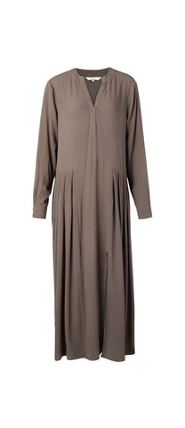 YAYA Long Dress, chocolate