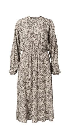 YAYA Dress with Flower print, light sand dessin