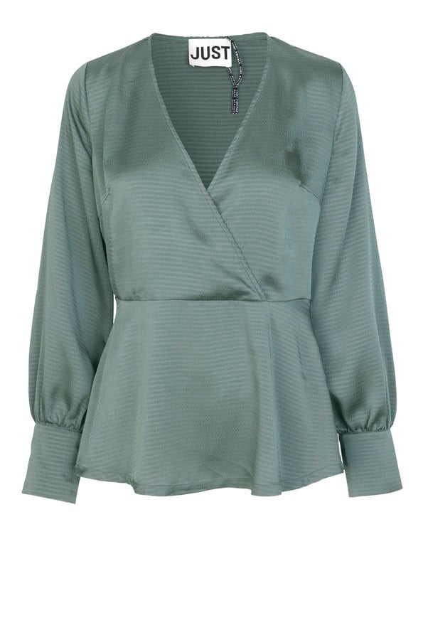 JUST FEMALE Minnie Blouse, balsam green