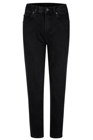DR DENIM Mom Jeans, dark grey