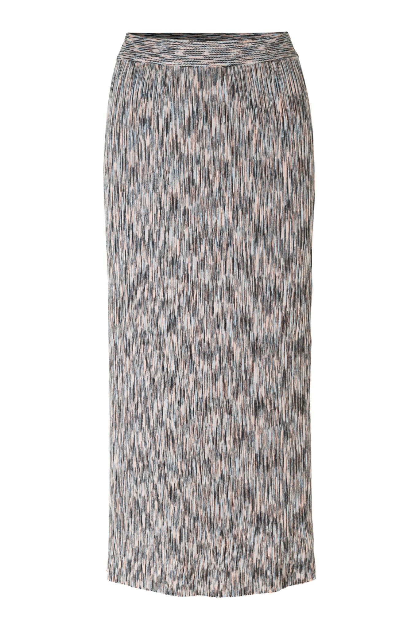 JUST FEMALE Pira knit skirt, pale blue - rose