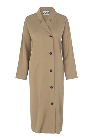 JUST FEMALE Priya Coat, sand