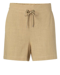 YAYA Cotton Fabric mix Shorts, sand