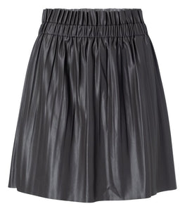 YAYA Faux leather mini skirt, dark grey
