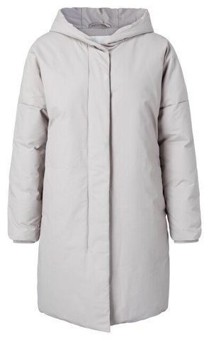 YAYA Hooded Puffer Jacket, light grey