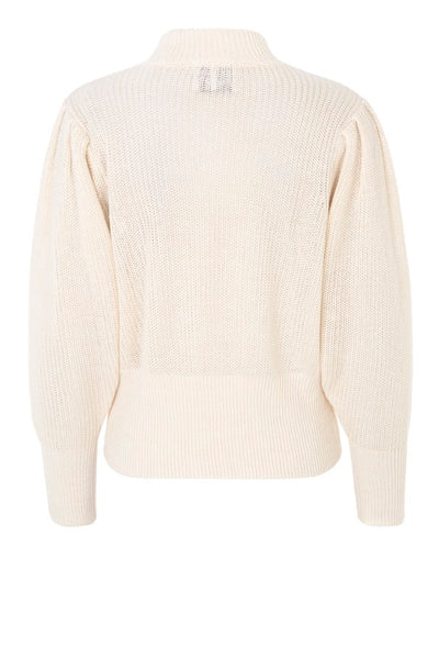 JUST FEMALE High Neck Knit, white